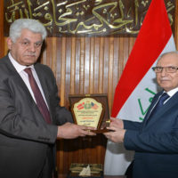 Academy delegation meets the Minister of Higher Education in Iraq