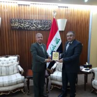 Academy President meets the Iraqi minister of higher education